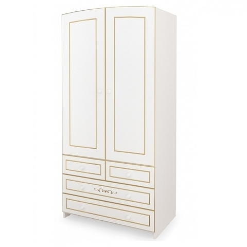 Шкаф двухстворчатый Люкс (белый)