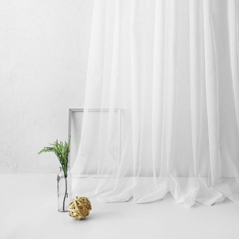 Тюль из сетки Мирей белый