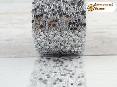 Паутинка с глиттером серебряная 5 см