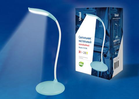 TLD-558 Blue/LED/280Lm/5000K/Dimmer Светильник настольный, 3W. Сенсорный выключатель. Голубой. ТМ Uniel
