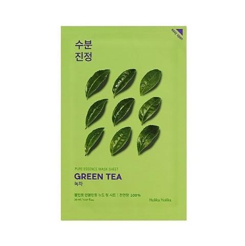Holika Holika Pure Essence Mask Sheet Green Tea тканевая маска для лица зеленый чай , 20 мл