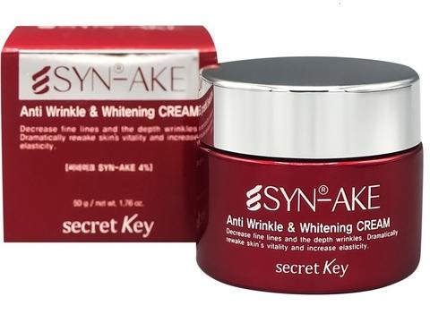 Secret Key Крем омолаживающий для лица с пептидом змеиного яда SYN-AKE Anti Wrinkle & Whitening Cream 50 мл.