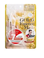 Тканевая маска Japan Gals с золотым составом 7 шт