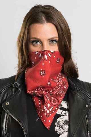 Красная бандана на лицо фото