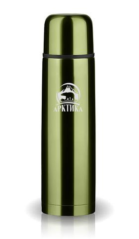 Термос Арктика (0,5 литра) с узким горлом классический, болотный