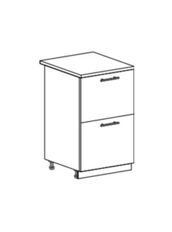 Шкаф нижний с 2 ящиками 500