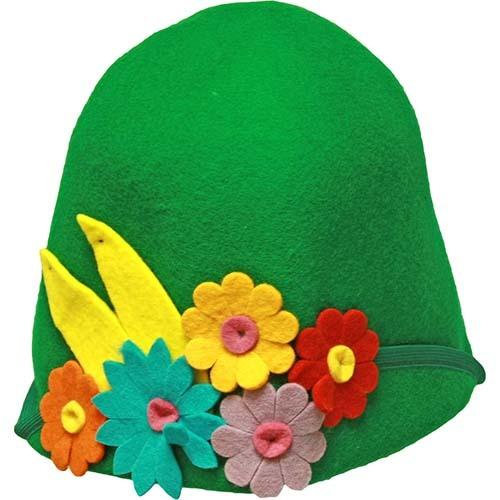 Фетровая шляпка для бани Лето