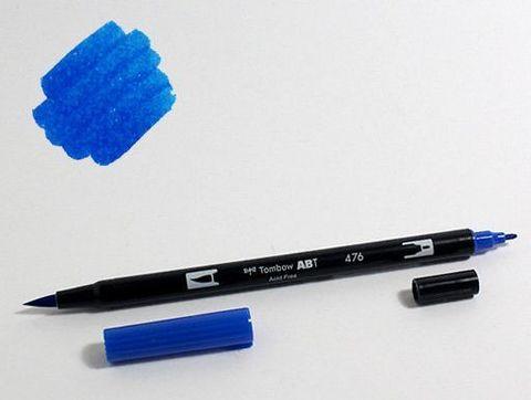 Маркер-кисть Tombow ABT Dual Brush Pen-476, циан