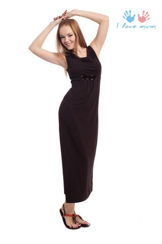 Платье для беременных и кормящих Констанция шоколад