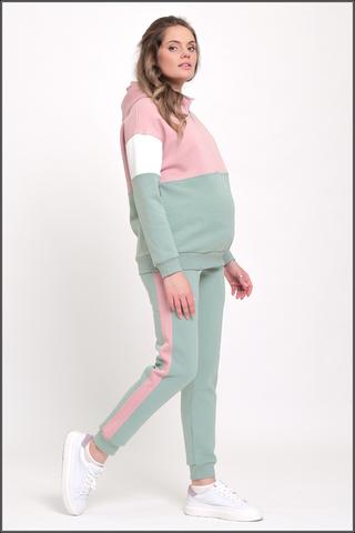 Утепленный спортивный костюм для беременных и кормящих 11955 мята