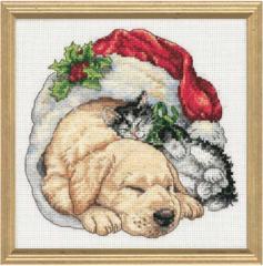 DIMENSIONS Щенок и котенок рождественским утром (Christmas Morning Pets)