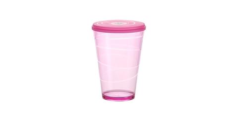 Стакан с крышкой myDRINK 400мл, розовый