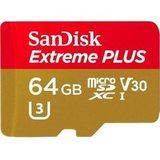 Карта памяти MicroSDXC SanDisk 64GB Class 10 UHS-I A2 C10 V30 U3 Extreme Plus