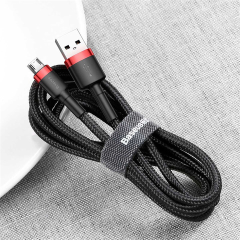 Кабель Baseus cafule Cable USB For Micro 1.5A 2M Red+Black