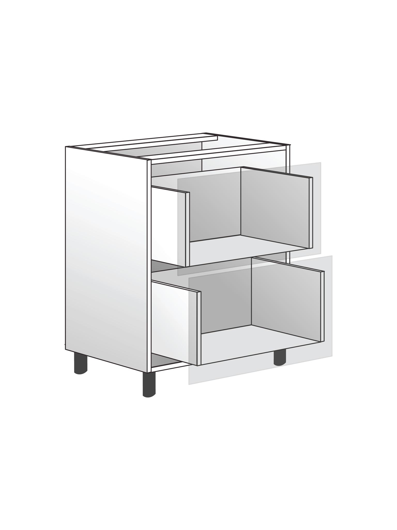 Напольный шкаф c 2 ящиками, 720х600 мм