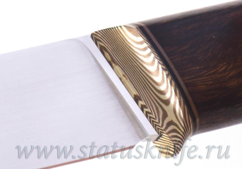 Нож авторский S125VN Мокуме ironwood 121 мм - фотография
