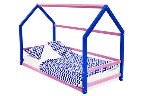 Кровать-домик Монтессори «Svogen» синий-лаванда