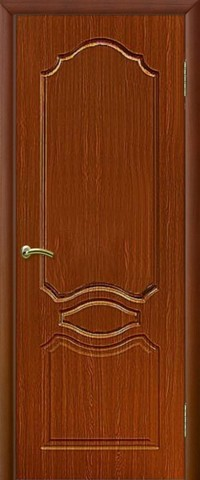 Дверь Сибирь Профиль Венеция, цвет итальянский орех, глухая