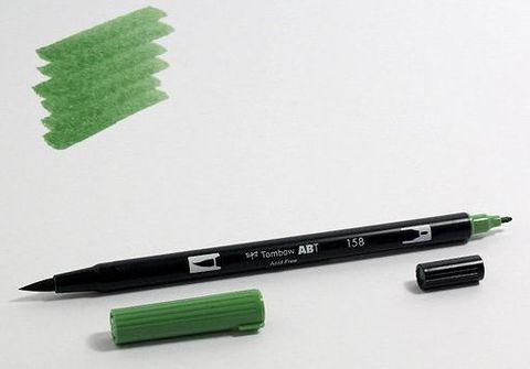 Маркер-кисть Tombow ABT Dual Brush Pen-158, темно-оливковый
