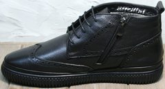 Зимние мужские ботинки на молнии Rifellini Rovigo C8208 Black