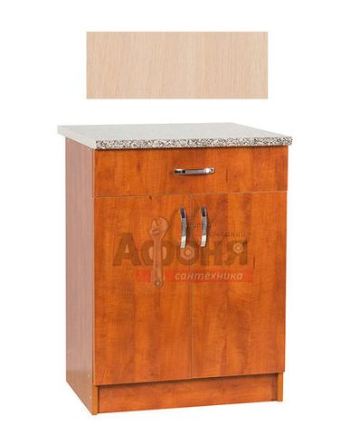Рабочий стол  60 цвет дуб млечный (1ящик),стол. ГРАНИТ (ЛДСП)