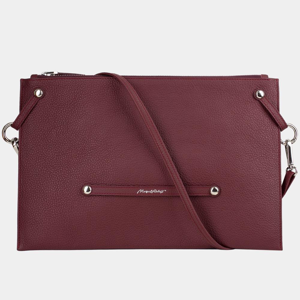 Женская сумка Tereze Easy из натуральной кожи теленка, бордового цвета
