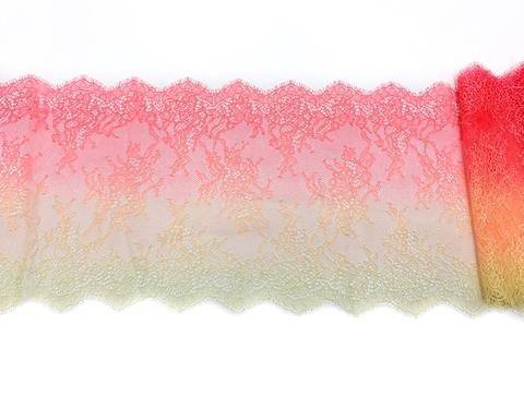 Кружево реснички желтый/оранжевый (23*145 см)