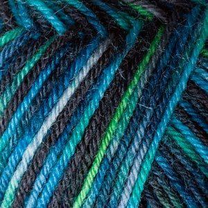 Пряжа Schachenmayr Regia 4-fadig Color 04969 голубой/зеленый/синий/темно-оливковый