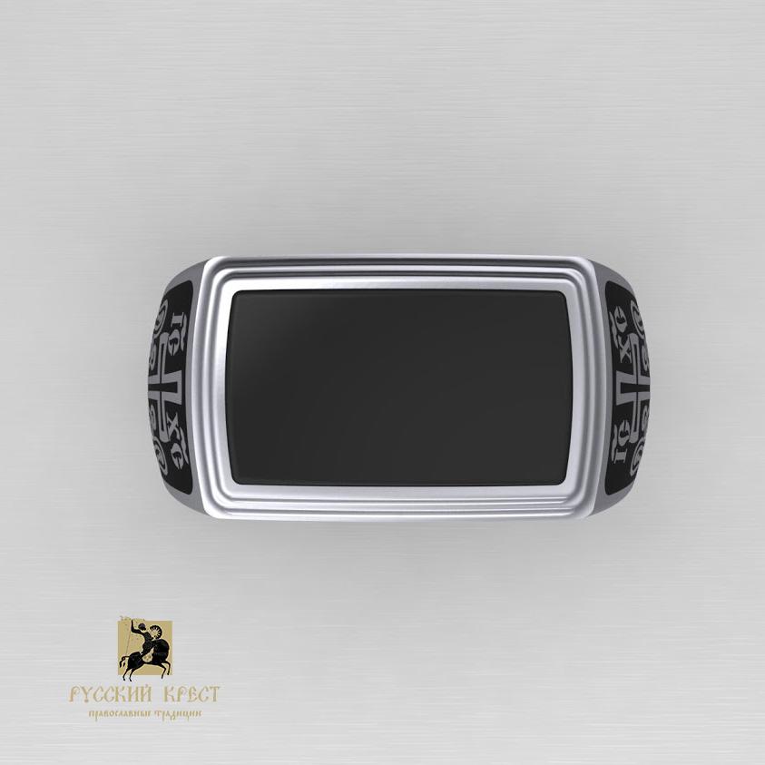 Православный перстень с нефритом