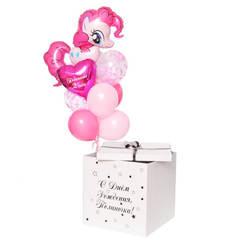 коробка с воздушными шарами май лит пони