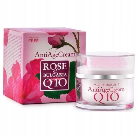 Крем против морщин Антивозрастной Q10 Rose of Bulgaria, 50 мл.