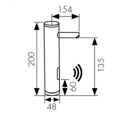 Сенсорный смеситель KAISER Sensor 38511 для раковины схема