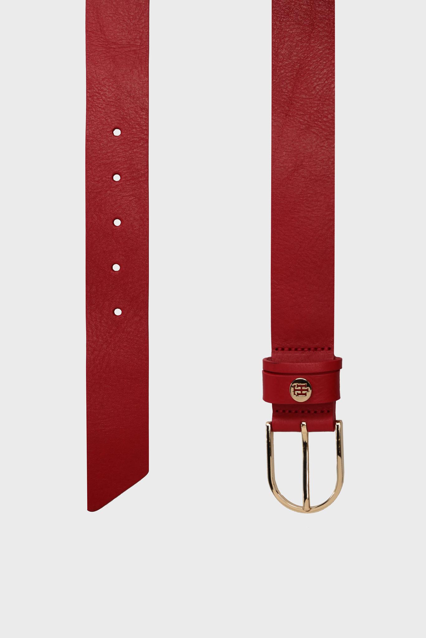Женский красный кожаный ремень CLASSIC Tommy Hilfiger