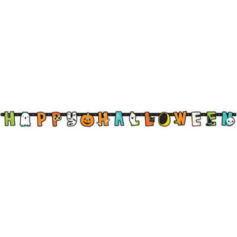 Гирлянда-буквы Happy Halloween Друзья