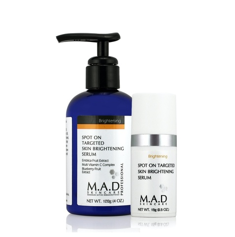 Сыворотка для локального использования с эффектом выравнивания тона кожи M.A.D Skincare Brightening Spot On Targeted Skin Brightening Serum, 15 мл