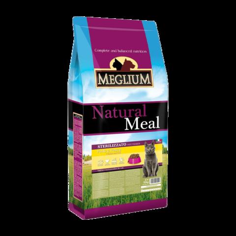 Meglium Neutered Сухой корм для стерилизованных кошек с курицей и рыбой