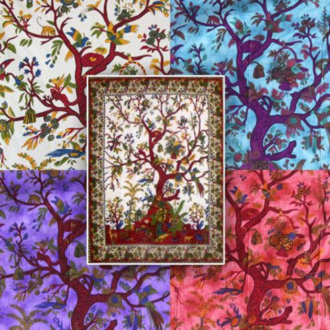 Покрывало Дерево жизни и райские птицы