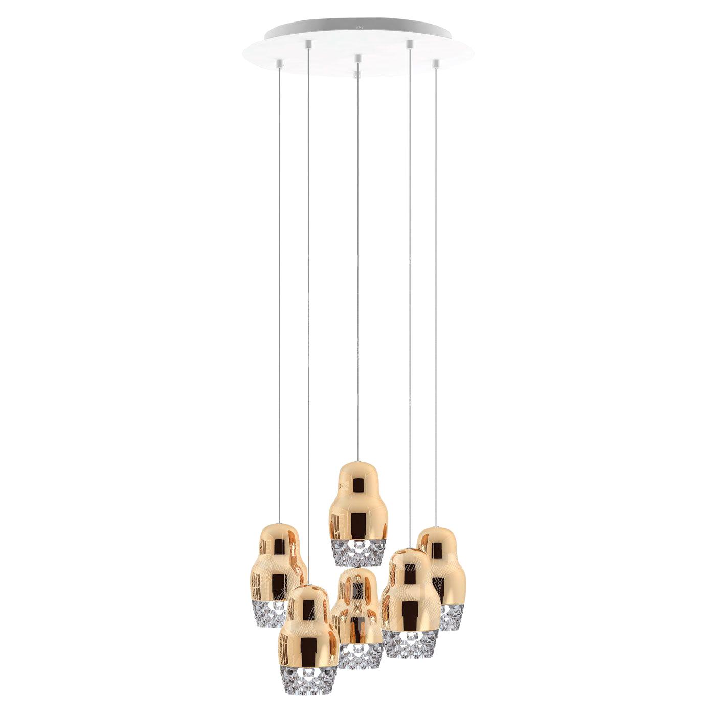 Подвесной светильник копия FEDORA 6 by AXO LIGHT  (бронзовый)