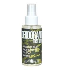 Дезодорант MEN ONLY CAMOUFLAGE (С маслом черного тмина и экстрактом морских водорослей), 100ml. TM Savonry