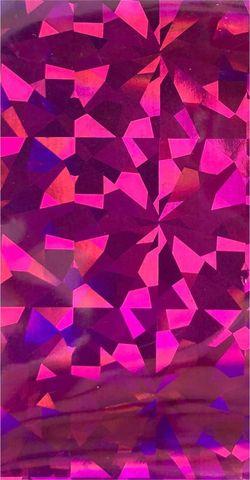 Фольга для дизайна ногтей в пакетике, розовая голография №1