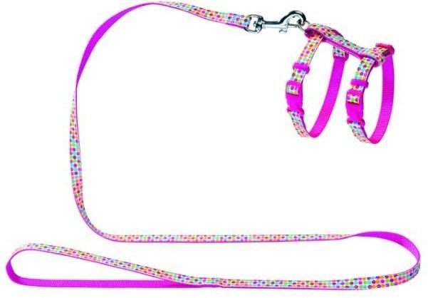 Ошейники, поводки Шлейка для кошек и собак, Hunter Smart Seventies, нейлон розовый 91380.jpg