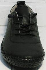 Кожаные туфли женские на низком ходу Evromoda 115 Black