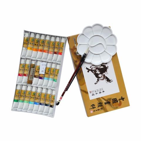 Набор минеральных красок для китайской живописи Marie`s, 24 цвета по 12 мл