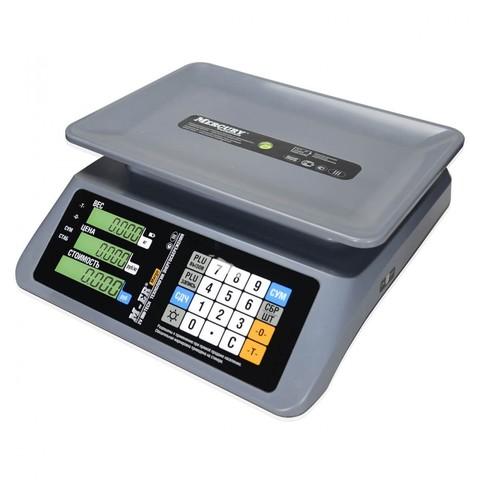 Весы торговые настольные Mertech M-ER 321AC-15.2 Margo, LCD/LED, АКБ, 15кг, 2гр, 330х230, с поверкой, без стойки