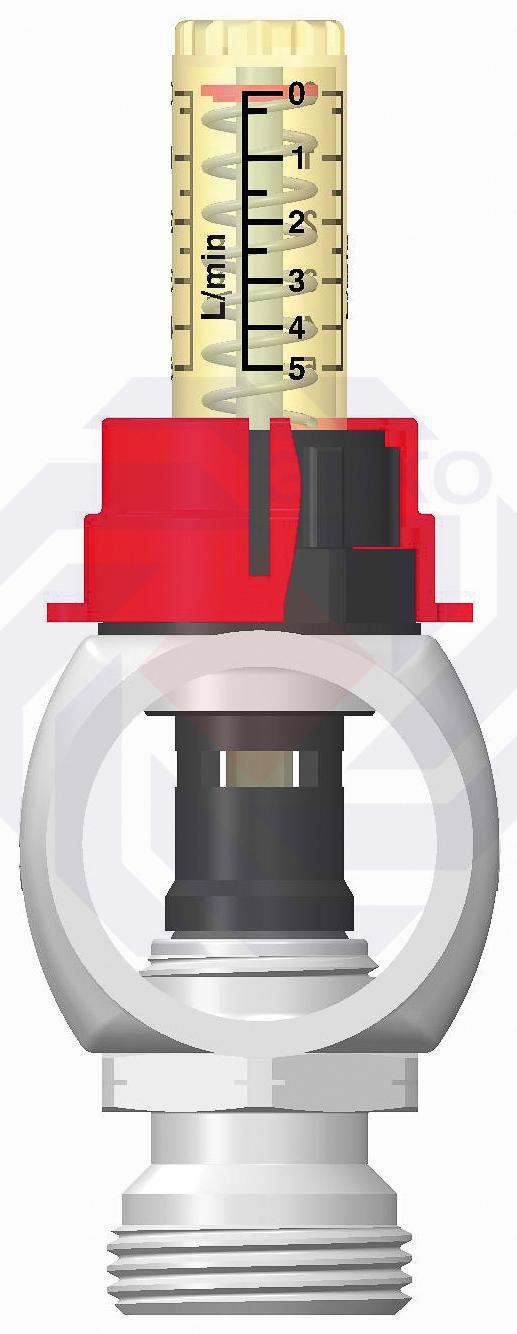 Комплект коллекторов с расходомерами IMI Dynalux 5 контуров