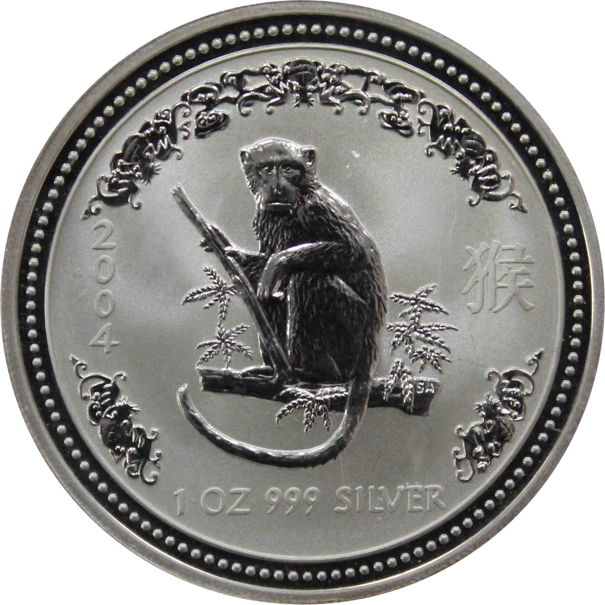 1 доллар. Год Обезьяны. Австралия. 2004 год