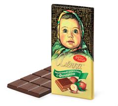 """Шоколад """"Алёнка"""" с фундуком 90г"""