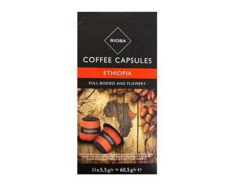 Кофе в капсулах Rioba Ethiopia, 11 капсул для кофемашин Nespresso