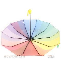 Разноцветный зонт-радуга автомат M.N.S. с желтой ручкой