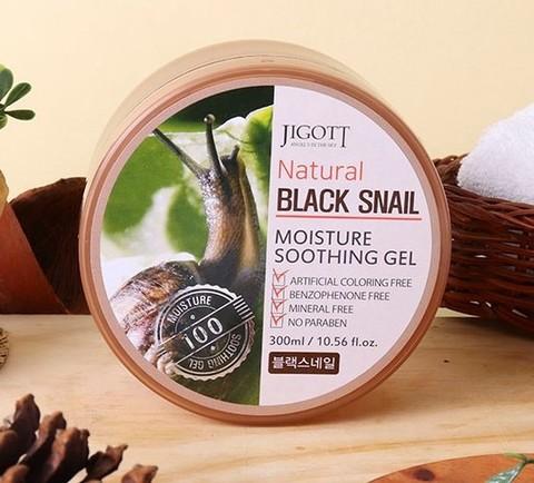 Jigott Natural Увлажняющий и успокивающий Гель с экстрактом муцина черной улитки, 300 мл